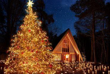 聖誕節▶長野輕井澤.高原教會「2018聖誕燭光之夜」星空聖誕樹