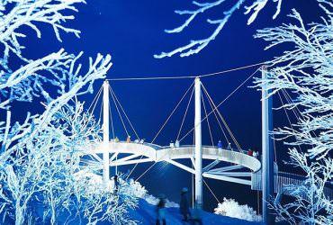 北海道「星野度假村」360度霧冰空中露臺冬季夜間點燈