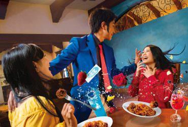 大阪環球影城2019【魯邦三世】設施公開~臉紅心跳的義大利愛之餐廳!