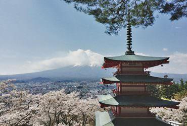 《新倉山富士淺間神社》手殘的你都能拍出似明信片中的景色!!